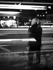 (Zlatko Parmakovski) Tags: blackandwhite black dark noir night longexposure street streetphotography monochrome huawei p10 light lights lines trails skopje leica nocturnal