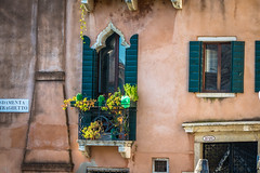 Some beautifully decorated balconies in Venice Italy.