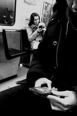 Maman... t'es où ?... (woltarise) Tags: streetwise métro lignebleue montréal stm mèrebébé homme smartphone addiction vieréelle vision futur iphone7