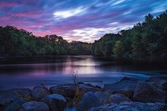 Flowing (Justin Loyd Photography) Tags: scenic evening canon5dmarkiv flowing flow still october pink water landscape iowa river clouds smooth beautiful peaceful longexposure blue