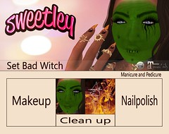 Sweetley - Set Bad Witch add (Sweetley SL) Tags: sweetley secondlife makeup mask catwa maitreya halloween witch copyright mesh bento newrelease mainstore creative scarey witchycat fire manicure pedicure kitty applier hud fun stylish avatar