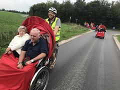 Billund Dagtur August 2018 Cykling uden alder Lise og Kurt i rickshaw Smil på læben Vind i håret
