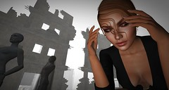 Hearing Damage (Saga Mea) Tags: digitalart 3d 3dart sl secondlife virtuality ruins thomyorke avatar