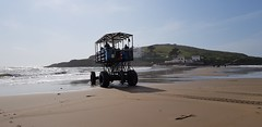 2018 0918 417 (SGS8+) Bigbury-on-Sea; the Sea Tractor returning from Burgh Island (Lucy Melford) Tags: samsunggalaxys8 bigburyonsea burgh island sea tractor