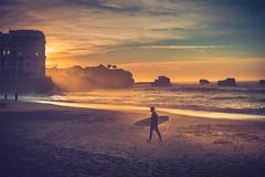 The surfer (Ro Cafe) Tags: sonya7iii biarritz beach sunset sundown autumn sea surfer sunlight nikkor2470mmf28