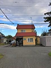 A Week (sjrankin) Tags: 15october2018 edited kitahiroshima hokkaido japan hours clouds road garage lines wires cars tree hdr