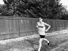Moving forward (JohnnyChau1) Tags: hardwork cross country running run walk jog intense black white granny jersey breathe race shoes team high school fence landscape tree asics asic kearns road