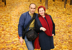 portrait (svklimkin) Tags: portrait people autumn svklimkin two girl golden yellow mark moscow canon
