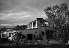 Ausgebranntes Verwaltungsgebäude BW (rob_tumithy) Tags: abandoned factory bw berlin urban