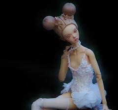 Little ballerina (stashraider) Tags: popovy little owl ballerina resin ball jointed doll megfashiondoll
