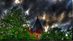 Courthouse (Tim @ Photovisions) Tags: kansas marysville courthouse building trees sky clouds xt2 fuji tree fujifilm