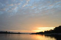 (simon.stoelben) Tags: rhein rhine köln cologne rodenkirchen morning sunrise 8am water fluss river riverside nature natur sky porange blue cloudy clouds
