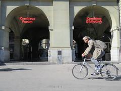 Space Invader BRN_11 (tofz4u) Tags: bern berne suisse switzerland schweiz svizzera streetart artderue invader spaceinvader spaceinvaders mosaïque mosaic tile brn11 reactivated restauré spacerescueintl reactivationteam blanc noir black white street rue people vélo velo bike bicycle bicyclette