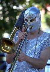 Trombonist In Portlandia (Scott 97006) Tags: trombone musician costume image play music