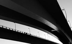 Rheinbrücken (four-hearts) Tags: rheinbrücken brücken brückenbauwerke architektur schwarzweis worms wo hessen rheinlandpfalz rheinhessen lampertheim rosengarten menschen personen gegenlicht scherenschnitt nibelungenbrücke parallelbrücken parallel