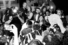 A new star is born (riccardolongo1) Tags: inside indoor people black white crew art wedding henna night