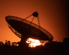 """Sunset at """"The Dish"""" (nightscapades) Tags: dubbo parkes silhouette sunset"""