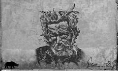 Street Art   Malouin  . . .   Ose Artwork   . . . (Daniel.35690) Tags: nb noiretblanc monochrome ose oseartwork saintmalo 2018 streetart leregard toutdansleregard