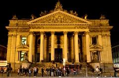 Brussels Stock Exchange (Bourse) (Valantis Antoniades) Tags: brussels stock exchange bourse belgium night