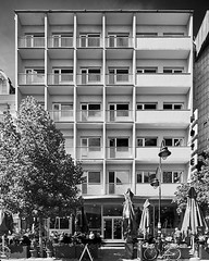 Hotel turist (Турист) Skopje, Macedonia by Dragan Tomovski – 1958 (AMANITO) Tags: amanito macedonia petrovski skopje vase аманито васе канон македонија петровски скопје building fotografija architecture photography architactural construction facade structure town old europe white landmark modern wall window concretetexture easterneurope photograph texture squares diagonal abandoned derelict jurmala repetitive rhythm repetition regular material pattern brutalism modernism vaseamanito