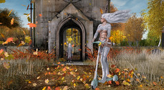 Boo! (KittyBlue Rae) Tags: secondlife solo sunshine mystictimbers scooter ghost spooky halloween scary fall autumn leaves