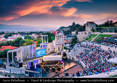 Bulgaria - Plovdiv - Ancient Roman theatre at Sunset (© Lucie Debelkova / www.luciedebelkova.com) Tags: plovdiv bulgaria bulgarian българия bălgaria republicofbulgaria републикабългария country europe southeasterneurope easterneurope balkans scenery scenic overlook outlook world exploration trip vacation holiday place destination location journey tour touring tourism tourist travel traveling visit visiting wonderful fantastic awesome stunning beautiful breathtaking incredible lovely nice sight sightseeing wwwluciedebelkovacom luciedebelkova city town building people opera performance sunset clouds sky
