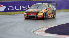 Wet EREBUS (1/2) (Jungle Jack Movements (ferroequinologist)) Tags: erebus gold penrite commodore zb holden gm gmh chev v8 australian virgin supercars bathurst mount panorama supercheap reynolds youlden brown de pasquale nsw new south wales motor racing pass race speed car cars hottie track practice pole position times timing hard competition competitive event saloon sports racer driver mechanic engine oil petrol build fast faster fastest grid circuit drive helmet marshal starter sponsor number class motorsport classic