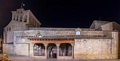 Catedral de San Pedro de Jaca-fachada sur. (dnieper) Tags: catedral sanpedro jaca huesca aragón españa spain románico nocturna panorámica