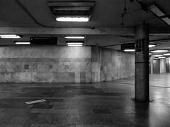 emptiness (LG_92) Tags: budapest subway metro hungary underground blackandwhite bw blackwhite monochrome decay empty emptiness noir lights night nightlights 2018 xiaomi mobilepics nyugati fridaynight neglected