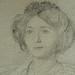 DEGAS Edgar,1860 - Madame Hertel assise sur un Canapé (Louvre RF29294) - Detail 30