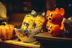 Not So Scary (3rd-Rate Photography) Tags: halloween mickeymouse pumpkin popcorn bowl kitchen fall october windowdisplay orlando florida 3rdratephotography earlware 365 canon 50mm 5dmarkiii