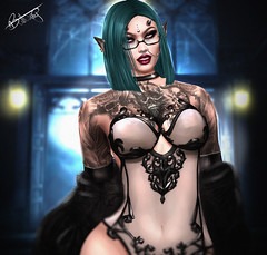 Irina (ButterCup Arcana) Tags: second life gothic chic photography sexy woman elegant tattoos
