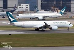 "Cathay Pacific Airways ~ Airbus A350-941 ""B-LRI"" (*DavE - PhotographY*) Tags: cathaypacificairways cpa cx cathay airbusa350941 blri a350 airbusa350 vhhh hkg"
