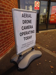 Sign of the times (stevenbrandist) Tags: sign loughborough loughboroughcollege drone warning video