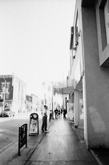A Vintage Blur (marinatilly) Tags: bank street man sidewalk ottawa bw