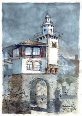 Casa de naúfragos (P.Barahona) Tags: arquitectura urbasketcher puerto mar cielo faro
