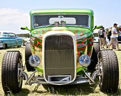 '32 Custom (*SIN CITY*) Tags: 1932 32 cruise custom green flames hot rod hotrods hotrod custompaint vehicle v8 transport transportation carshow car americancarsinaustralia american grill chopped