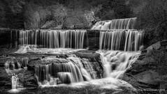 Seneca Mills Falls IN B&W (HarrySchue) Tags: fall fallcolors landscape nature pennyanny waterfalls blackwhite monchrome senecamillsfalls nikon d800e reallyrightstuff sigmalens hiking