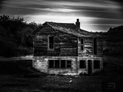Old House Abandoned (millertime9905) Tags: blackandwhite canonpowershotsx60hs canonpowershot vintage abandonedhouse abandoned revision milwaukeeroad easternmontana