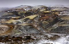 An alien landscape. (lawrencecornell25) Tags: landscape iceland winter outdoors mountains pokahryggur landmannalaugar highlands snow nature nikond850