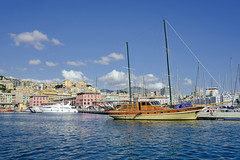 vintage sailing (imaginesagentes) Tags: genova genoa origin childhood memories places colorful grunge liguria superba haughtiness harbour boat sealife authentic love hate birthplace worncity
