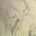 DEGAS Edgar,1860-62 - Sémiramis construisant Babylone, Etude (Louvre RF15526) - Detail 03