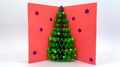 How To Make a Paper Christmas Tree Greetings Card For Wishing Your Dear Ones (LiaFloral) Tags: how to make paper christmas tree greetings card for wishing your dear ones