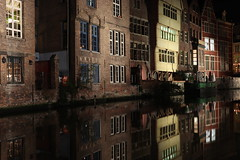 Mirrage (Viktor Van Herzele) Tags: water mirror longshutter ghent belgium night dark