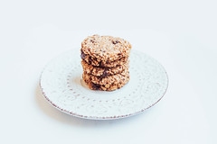 Stacked vegan banana oatmeal cookies with chocolate chips on white background (marcoverch) Tags: chocolate dessert white oat diet sweet baked oats tasty oatmeal background snack fitness vegan delicious bar food chips ingredient cookie dark cereal walnuts cookies bakery isolated stack healthy banana