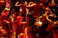 Orange Splashes, Shri Dauji Temple, Chhabria India (AdamCohn) Tags: 019kmtobaldevinuttarpradeshindia abeer adamcohn baldev chhabria india shridaujitemple uttarpradesh colors geo:lat=27408565 geo:lon=77822348 geotagged gulal holi play wwwadamcohncom अबीर गुलाल baldeo