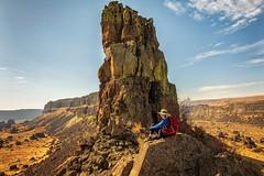 On a Rock (KPortin) Tags: me umatillarock iceagefloods sunlakesdryfallsstatepark geology
