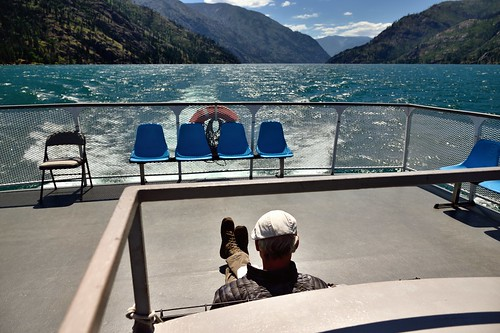 Reading a Book on the Back of a Ferry Boat