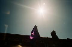 A shining star (Jim Davies) Tags: olympusmjuii olympusstylusepic mjuii stylusepic c41 35mm analogue veebotique olympus filmfilmforever ishootfilm film analog poundland agfavistaplus colourfilm 35mmfilm compactcamera oxford sun lensflare abberations