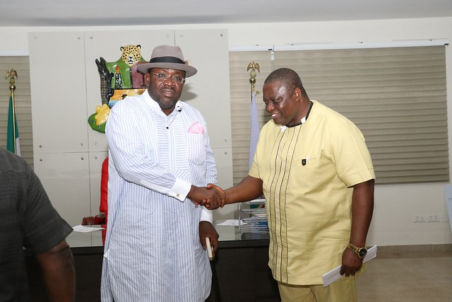 HSDickson - Courtesy visit by National President, Medical Health Worker Union Of Nig.